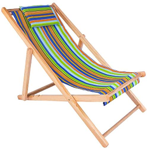 TXXM Zero Gravity - Sedia a sdraio pieghevole da giardino, con braccioli e cuscino, in tessuto per giardino, terrazza e balcone, colore: verde