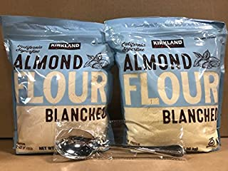 Kirkland Signature California Superfine Almond Flour 3LB With FREE Stainless Steel Spoon By KC Commerce (Pack of 2)