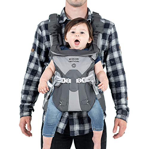 Mission Critical S.02 Adventure Baby Carrier, Baby Gear for Dads (Titanium)