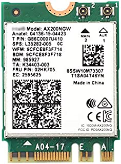 AX200 Next-Gen Wi-Fi 6 Network Card M.2 NGFF ax200ngw 160MHz 802.11ax/ac 2.4Ghz 5Ghz BT 5.0 MU-MIMO 2x2 OFDMA WLAN Card fo...