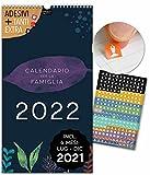 Calendario per famiglie 2022   23x43cm   5 Colonne   228 adesivi   FLOREALE   Planner da parete, Planner da muro   Tutti giorni festivi   Motivi floreali stilosi, colorato, Fiori, Decorazione, Design