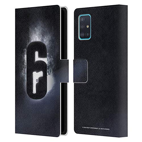 Head Case Designs Offizielle Tom Clancy's Rainbow Six Siege Gluehen Logo Leder Brieftaschen Huelle kompatibel mit Samsung Galaxy A51 (2019)