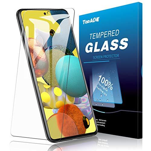 Galaxy A51 5G ガラスフィルム TopACE Galaxy A51 5G フィルム 日本旭硝子製 強化ガラス 液晶保護フィルム 気泡防止 自動吸着 防指紋 高透明度 Galaxy A51 5G SCG07 / SC-54A対応【2枚セット】