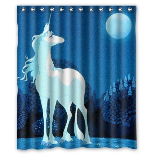 Larona Die letzte Einhorn Custom Polyester Gewebe Duschvorhang 165 x 180 cm Badvorhänge