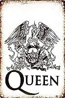 Queen Rock メタルポスター壁画ショップ看板ショップ看板表示板金属板ブリキ看板情報防水装飾レストラン日本食料品店カフェ旅行用品誕生日新年クリスマスパーティーギフト