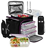 A2S Complete Meal Prep Lunch Box - 8 Pcs Set:...