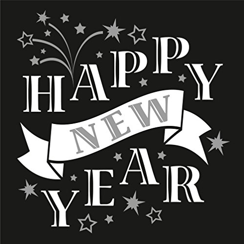 Susy Card 40006710 – Serviette Motif Happy New Year, 33 x 33 cm