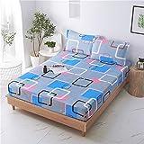 Sábanas de cama - Juego de sábanas de microfibra súper suave con bolsillo profundo y arrugas e hipoalergénicas