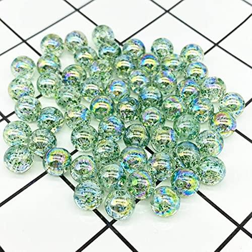 Cuentas espaciadoras sueltas de cuentas acrílicas redondas de color de 8mm de 50 Uds., Cuentas espaciadoras sueltas para hacer joyas, pulsera DIY, verde