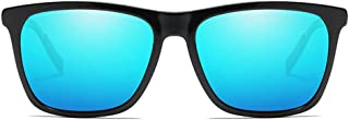 Durable Fashion Colorful Polarized Metallic Sunglasses Black/Blue/Green/Purple/Yellow Men and Women New Driving Driving Sunglasses (Color : Blue)