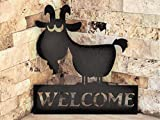 "goat gifts ""Welcome"" sign"
