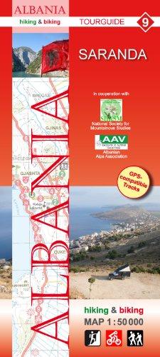Saranda Wanderkarte und Radkarte in 1:50.000, Albanien Nr. 9, Huber Kartographie