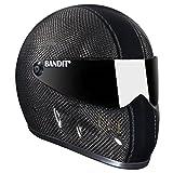 Bandit XXR Casque pour moto Streetfighter Noir carbone charbon M(57-58cm)