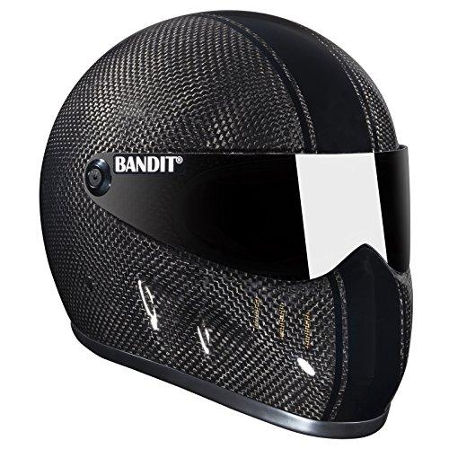 Bandit XXR Carbon Helm für Streetfighter,Top Speed sicher,sehr leicht, Sports-Farbe:Carbon, Größe:XL(61-62cm)
