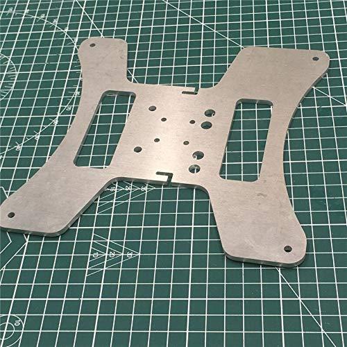 XACQuanyao LMY-Pulley, Impresora 3D de Aluminio 1pc Upgrade y Placa de Carro de 4 mm de Espesor for Creality Ender-3S MGN12H lineares del Carril climatizada Placa de Soporte Cama