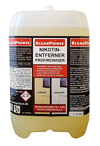 Cleanprince Nikotinentferner 5 Liter Profireiniger Nikotinreiniger Rußentferner
