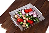 WOWSTAR Grill Basket-304 Heavy Duty Stainless Steel BBQ Accessories Built to Last- for All Grills and Veggies.