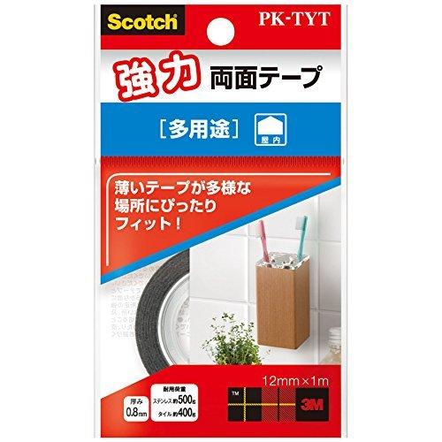 (まとめ買い) スリーエム スコッチ強力両面テープ 多用途 PK-TYT 【×5】