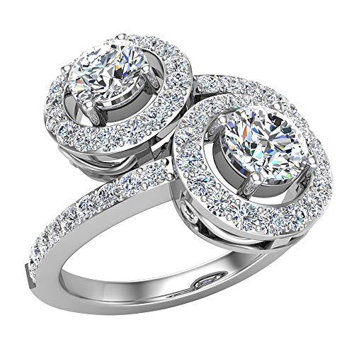 Glitz Design Mujer Niños Hombre Unisex oro 14 quilates (585) oro blanco 14 quilates (585) Round Brilliant G-H Diamond