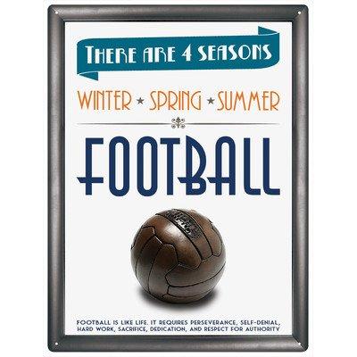 Red Hot Citron 300 x 400 mm-Fer-Blanc/métal 4 Saisons Football Plaque Murale Multicolore
