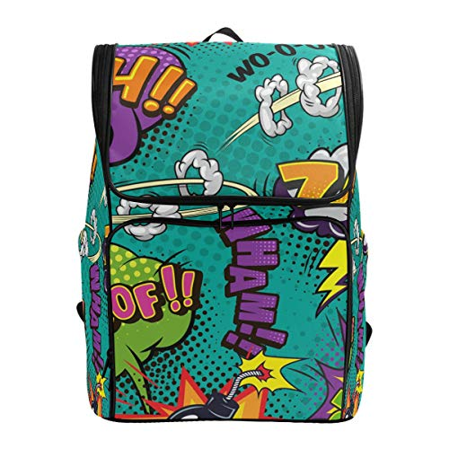 Outdoor Daypack Bunte Bubbles Word Pop Art Casual Reise Laptop Computer Rucksäcke für Männer Frauen Wasserdicht Große Kapazität Sporttasche für Erwachsene