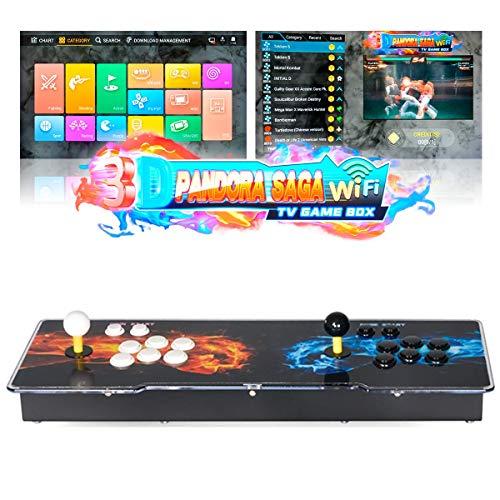 TAPDRA 3D Pandora Saga WiFi 3000 en 1 TV Game Box Consola Arcade Kit Completo de Bricolaje,...