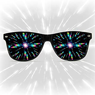 GloFX Diffraction Glasses - Matte Limited Edition - Rave Eyewear, Ravewear, EDM Festivals, Light Shows, Rainbow Prism Kaleidoscope Refraction Lenses