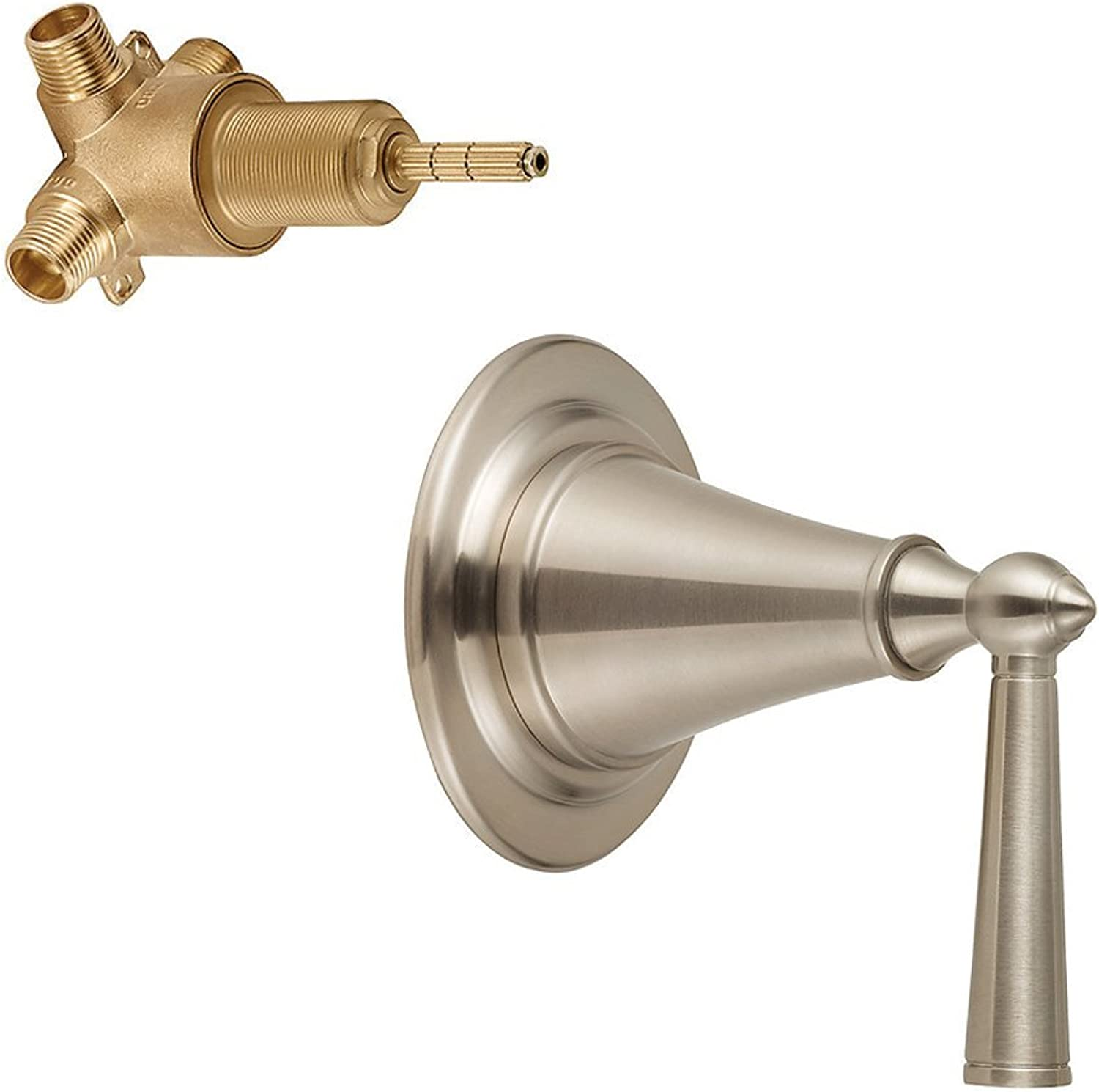 Pfister K016GL0-2WR-BN Saxton Digreener Trim with 2-Way Rough Valve, Brushed Nickel