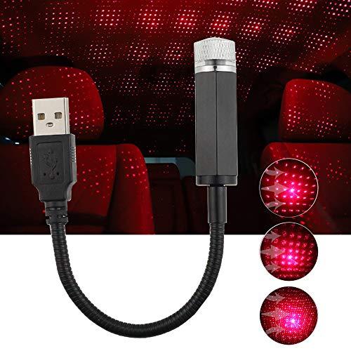 Delleu 4 en 1 USB Car Star Lights USB Romantic Auto Roof Star Lights Angle r/églable et densit/é d/étoiles sans besoin dinstaller des feux de toit de voiture Romantic USB Lights