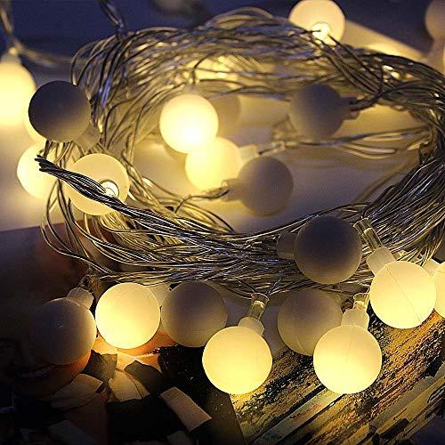 Garland LED luces de hadas bola de luz LED de interior, utilizada para la decoración del hogar de vacaciones de Navidad luces de cadena usb 6m60 leds
