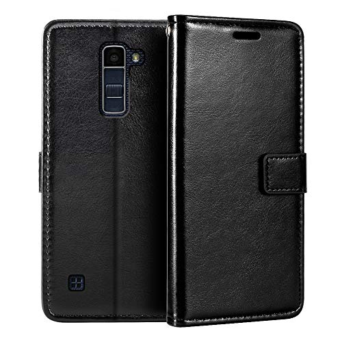 LG K10 Wallet Case, Premium PU Leather Magnetic Flip Case Cover with Card Holder and Kickstand for LG K10 2016