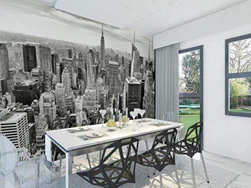 ZAMLE Retro nostalgisch New York City TV Hintergrundbild Bars Schwarz-Weiß-Tapete Bars Tapeten nural, 300x210 cm (118.1 x 82,7 in)