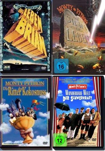 MONTY PYTHON Klassiker Collection 5 DVD Kultfilme SINN DES LEBENS + RITTER DER KOKOSNUSS + DIE WUNDERBARE WELT DER SCHWERKRAFT + DAS LEBEN DES BRIAN