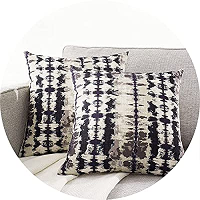 JLCROTENGRA Decorative Pillow Covers Cushion Cover Patterns Printed Boho Pillow Covers for Living Room Couch Sofa Bedroom, Accent Pillow Cases, Pack of 2, 18X18 Inferno Metal