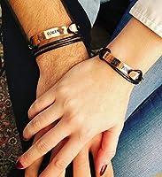 Bracelets pour les couples, personnalisés. Bracelets gravés. Bijoux couple personnalisables. Cadeau pour lui, cadeau...