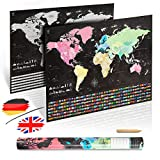 uranuspro - Scratch Off World Map/Detaillierte Weltkarte