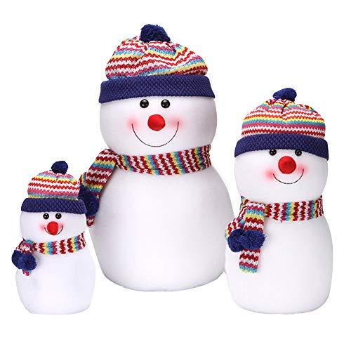 Bonhomme de neige de Noël poupée Fluff Filled jouets, ornements de bonhomme de neige, cadeaux d'anniversaire, cadeaux de vacances de Saint Valentin, décoration de la maison voiture arbre de Noël ZDD