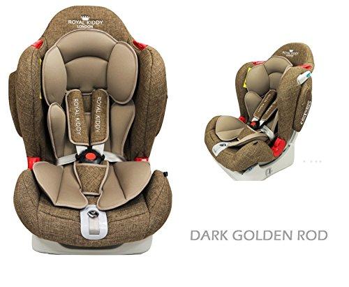 Royal Kiddy London © RK Venture Autositz von Neugeborenen bis 6 Jahre alt (Dunkelgoldener Stab)
