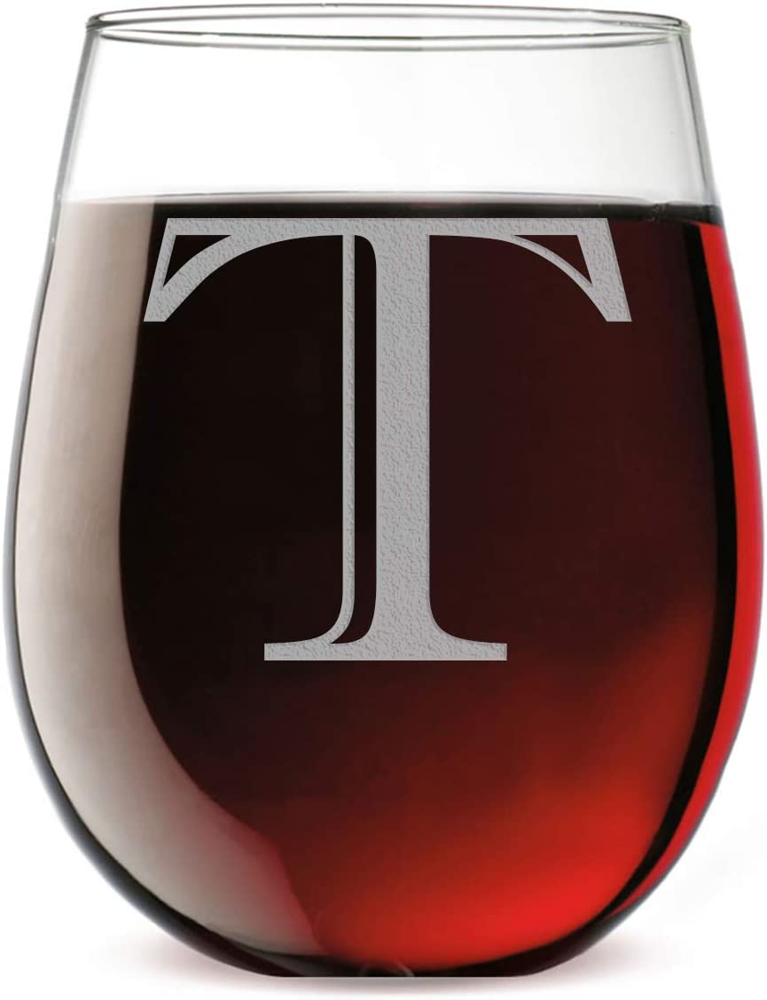 Monogram 2021 Etched 17oz Stemless T Glass Letter Bombing free shipping Wine