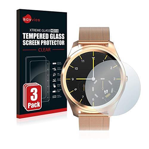 savvies Pellicola Vetro Temperato Compatibile con Diggro DI03 (3 Pezzi) Protezione Protettivo Schermo Glass Durezza 9H