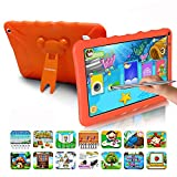 Tablet Bambini 9.0 Pollici con Wifi Offerte Android 9.0 Certificato Google GMS 3GB RAM 32GB/128GB Tablet PC in Offerta OTG 1.5GHz Quad Core 6000mAh Tablet Android con Giochi Educativi Netflix(Arancia)
