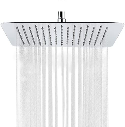 SR SUN RISE Luxury 10 Inch Large Square Stainless Steel Shower Head High Pressure Rainfall Showerhead product image