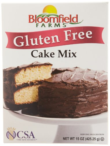 Bloomfield Farms Cake Mix, gluten free, 15-Ounce
