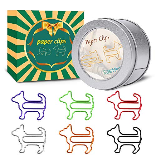 Dog Shape Paper Clips - Gifts for Dog Lovers - Perfect as Birthday Gifts - Office Gifts for Women Coworkers - Funny Dog Paperclips for Office Supply School Student. (60Pcs)