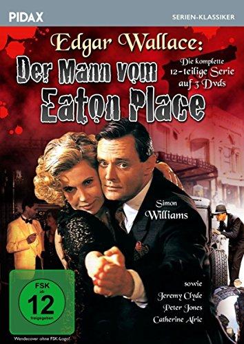 Edgar Wallace: Der Mann vom Eaton Place / Die komplette 12-teilige Krimiserie nach Edgar Wallace (Pidax Serien-Klassiker) [3 DVDs]