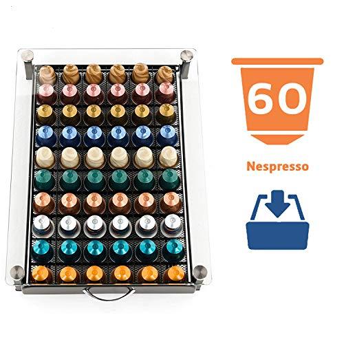 Peak Coffee, Cassetto Vassoio per Capsules Nespresso Capienza 60 Pods