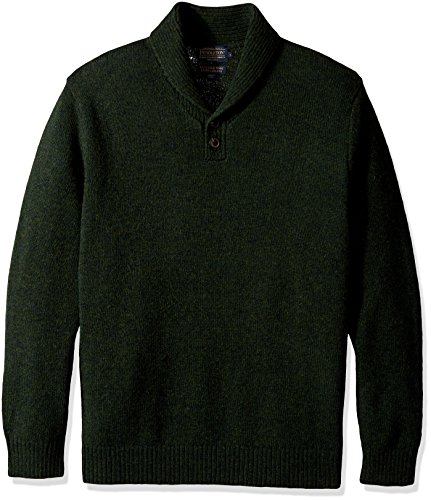 Pendleton Men's Shetland Shawl Collar Oullover Sweater, Juniper Green-61199, XL