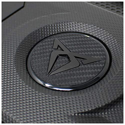 Emblem Folie Logo Folien Cover Abdeckung Motor Dekor Motorabdeckung Motorraum Aufkleber Bekleben (K113 Schwarz Matt)