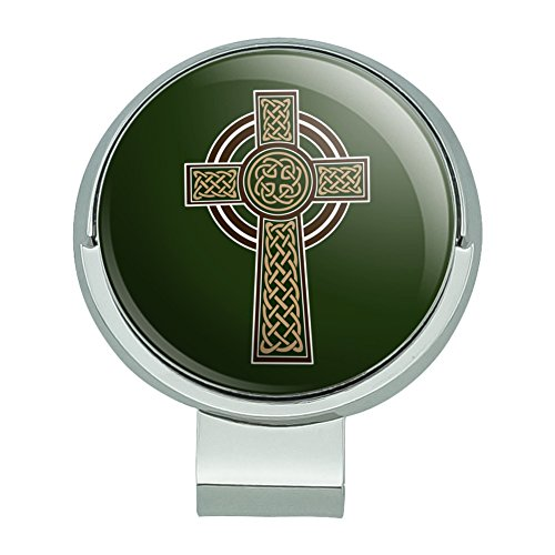 GRAPHICS & MORE Celtic Christian Cross Irish Ireland Golf Hat Clip with Magnetic Ball Marker