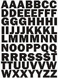 das-label Buchstaben Design NO.3 (Gross)   schwarz Vinyl matt   Selbstklebende gestanzte Klein- oder Großbuchstaben   zum Basteln Scrapbook   Sticker   Aufkleber   zum Beschriften